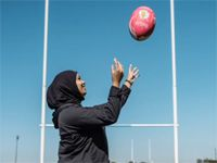 #BeautifulNews: The hijabi tackling expectations of a rugby player