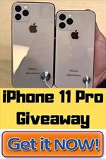 Free! iPhone 11 Pro Max Giveaway 2020