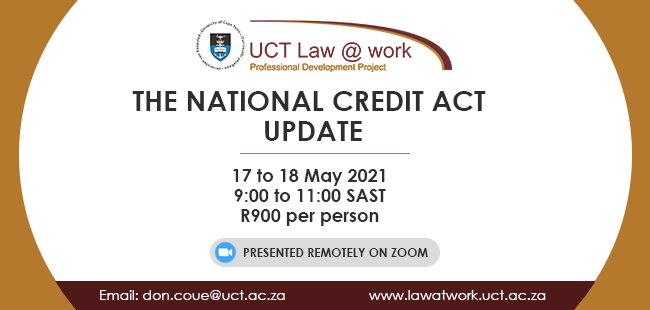 The National Credit Act Update