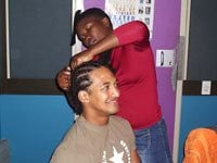 Breyton braids his bos... live on The Hearty Breakfast Show