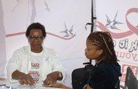 Tshedi Mholo of Malaika being tested for HIV