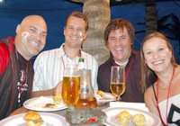 Mike Olivier, Dave Asher, Mark Powell and Karen Griffith