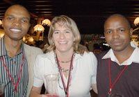 Thulani Mbatha, Maggie Wittstock and Philani Mgwaba