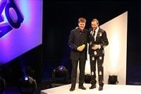 BBDO Cape Town receives its Yellow Pencil at 2008 D&AD Awards. Picture by Mark Forrester.