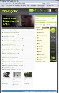 Dedicated Afrigator page on xenophobia attacks