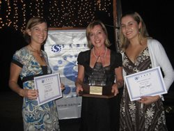 Nicky, Lydia and Joanne with their awards.