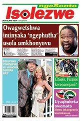 A recent Isolezwe ngeSonto front page.