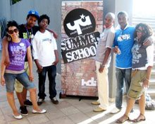 Members from HDI Youth Marketeers' Junior Board of Directors at Youth University Summer School 2008.