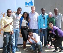 HDI Youth Marketeers' Junior Board of Directors with Summer School speaker & 5FM DJ, Gareth Cliff.