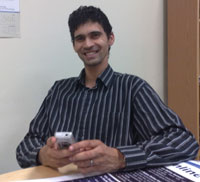 Marlon Parker, who runs a drug rehabilitation programme using mobile instand messaging platform MXit. Pic powered by Nokia.