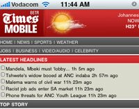 Multimedia now accessible on new Times mobisite