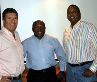 Raymond H Burke, Expo Centre shareholder and chairman of Dogan Trading; Murphy Morobe, chairman of Kagiso Exhibitions & Events and CEO of Kagiso Media, and Craig Newman, CEO of Expo Centre.