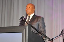 Minister Jeff Radebe, Head of Policy for the ANC and keynote speaker for the ceremony.