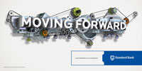 """Outdoor: Standard Bank South Africa """"Moving Forward"""""""