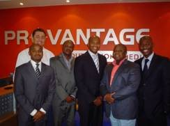 Back: Jacques du Preez – Provantage Managing Director. Front from left: Athini Geja – Activate Sales & Business Development Director; Eugene Sehume – Activate Marketing Services Director, Litha Nodada – Activate Managing Director; Bongani Dlamini – Provantage Executive Director; Ntsiki Balfour – Activate Marketing Director.