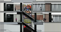 Wall of screens for latest Sandton mall
