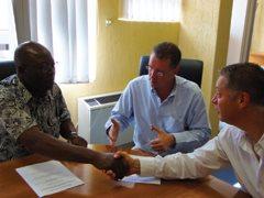 (From left) Daniel Chigaru - Kevin Kennedy - Brian Kannedy