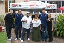 Paul Snodgrass, Francois Louw, Diggy Bongz, Marguerita Freeks, Jacque Fourie and Quathar Jacobs