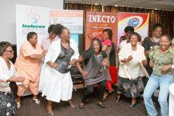 Intandokazi ladies enjoying the good music with Brenda Mhlongo.