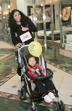 Saskia with baby Ella St. Claire