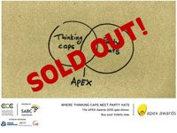 Apex Awards - not an empty seat in the house