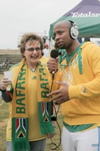 Western Cape Premier joins Phat Joe for morning walk in support of Bafana Bafana