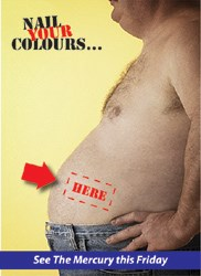 In the lead-up to Friday's masthead, The Mercury 'teased' readers to Nail [their] colours.