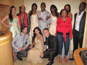 Ntombezinhle Modiselle (in red) Public Relations Manager, South and Sub-Saharan Africa, Intel Corporation SA, with the models at the event.