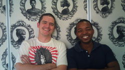 Morné Strydom, senior copywriter at Draftfcb, Johannesburg, and his art director colleague Marcus Moshapalo, who left for 'Down Under' over the weekend to go and study at the advertising agency Droga5 in Sydney, thanks to the Pendoring Prestige Award.