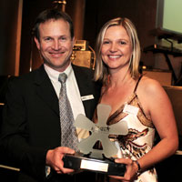 L to R: Paul Byrne (executive director of Jobs - CareerJunction) and Kim Meszaros (marketing executive - Kelly)