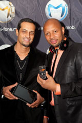 Mi Fone CEO Alpesh Patel and Heart 104.9FM Morning Breakfast Show DJ Phat Joe