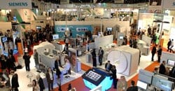 Busy exhibition floor at Arab Health 2011, sister event to Africa Health.