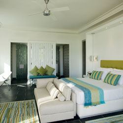 High ceilings help to keep the rooms cooler, and make the resort even more environmetally friendly.