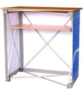 Pop-up point-of-sale aluminium tasting tables for in-store retail promotions - Right Stuff