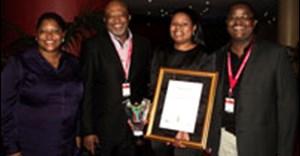 Left to right: ECPTA tourism enterprise manager Keketso Kostile, MEC Mcebisi Jonas, ETEYA second-prize winner Bassie Ngozwana and ECPTA executive Eddie Marafane.