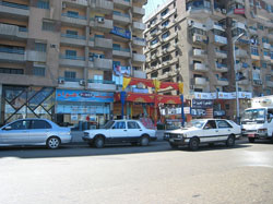 A typical street scene, Cairo, Egypt. (Chris Clarke from Dubai, UAE, via Wikimedia Commons)