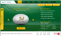 Get MySubs' Rugby World Cup widget and win a mini-break