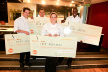 From left to right: Chef Kevin Miller, Chef Abubaker Bagaria, Chef Jodi-Ann Pearton (winner) and Chef Jelele Mokhine.