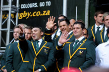 Springbok fans unite to bid the Boks farewell!