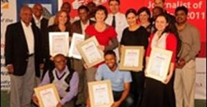 2011 Vodacom Journalist of the Year eastern region winners