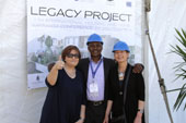 (Fltr): Litha's Teresa Jenkins (MD), Andile Ncontsa (CEO) and Beaulah du Toit (Logistics Director) at the Legacy Project handover.