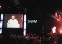 Kumi Naidoo, guest speaker at the 2011 Vodacom Journalist of the Year Awards gala dinner. Pic: Simone Puterman.