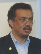 Ethiopian Health Minister Tedros Adhanom Ghebreyesus.
