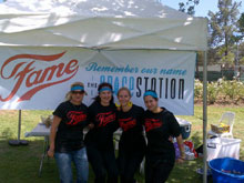 Marina Simpson, Glenda Courtis, Carla Caswell and Tamaryn Lopong from the SpaceStation