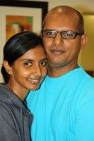 Pictured before eThekwini Hospital and Heart Centre's first renal transplant are patients Devendren and Raveena Naidu. Reveena has donated her kidney to husband Devendren Naidu.