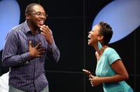 Abongile Maqwazima with BBL presenter Masechaba Lekalake