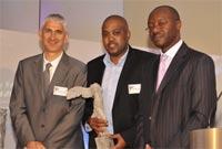 Dr Jonathan Broomberg, CEO of Discovery Health, Sthembiso Hlongwane, Prof Tawana Kupe, Convener of the Discovery Health Journalism Awards