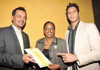 L to R: Monty Dhariwal, chairman of Advertising Practitioners Association, Esther Ngomeli, managing director of Media Edge Group and Sandeep Sura, creative director of Media Edge Group.