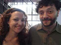 Directors Dara Kell and Christopher Nizza at the Brooklyn Film Festival earlier this month.