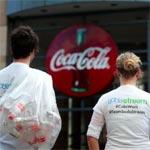 PR face off stunt at Coke headquarters. Source: Cage Challenge, Facebook.